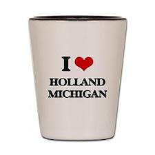 I love Holland Michigan Shot Glass