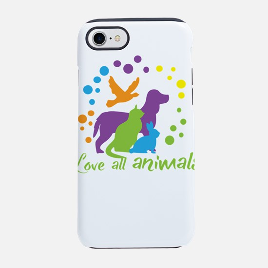 love all animals iPhone 7 Tough Case