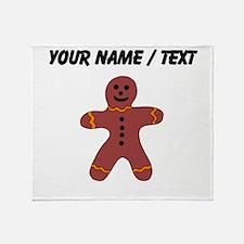 Ginger Bread Man (Custom) Throw Blanket