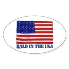 Bald in the USA Oval Decal