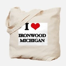 I love Ironwood Michigan Tote Bag