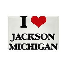 I love Jackson Michigan Magnets