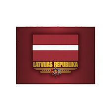 Latvia National Flag 5'x7'Area Rug