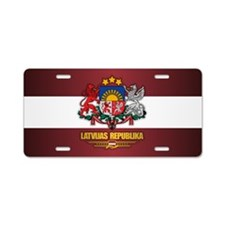 Latvia COA Aluminum License Plate