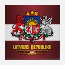 Latvia COA Tile Coaster