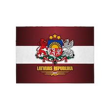 Latvia COA 5'x7'Area Rug