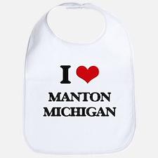 I love Manton Michigan Bib