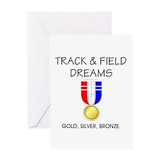 TOP Track & Field Dreams Greeting Card