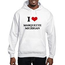 I love Marquette Michigan Jumper Hoody