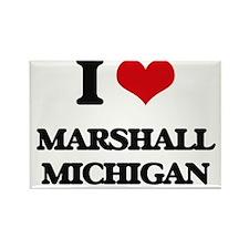 I love Marshall Michigan Magnets