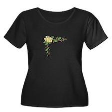 ROSE BORDER Plus Size T-Shirt