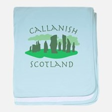 Callanish Scotland baby blanket