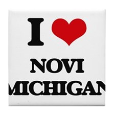 I love Novi Michigan Tile Coaster