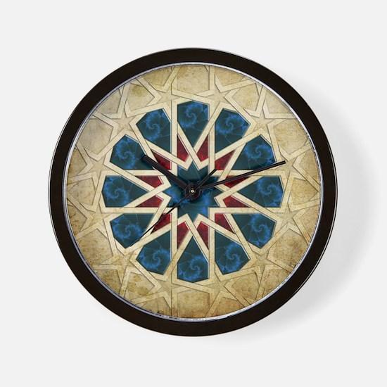 Dodecagonal Geometric & Fractal Pattern Wall Clock
