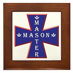 Master Masons Cross Framed Tile