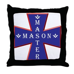Master Masons Cross Throw Pillow