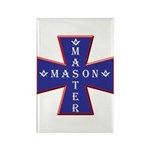 Master Masons Cross Rectangle Magnet (10 pack)