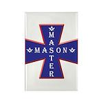 Master Masons Cross Rectangle Magnet (100 pack)