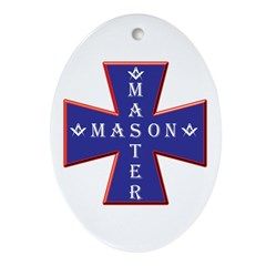 Master Masons Cross Oval Ornament