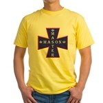 Master Masons Cross Yellow T-Shirt