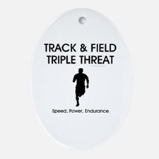 TOP Track and Field Oval Ornament