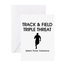TOP Track and Field Greeting Card