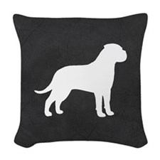 Bullmastiff Woven Throw Pillow