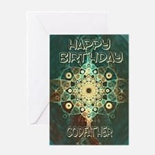 Birthday card for your godfather with a grunge fra