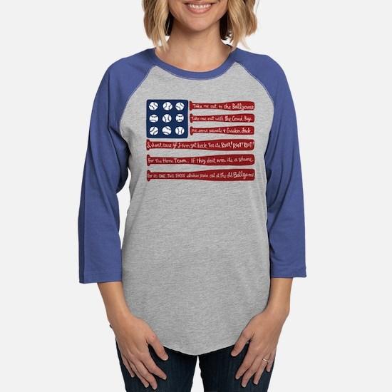 Baseball/flag Long Sleeve T-Shirt