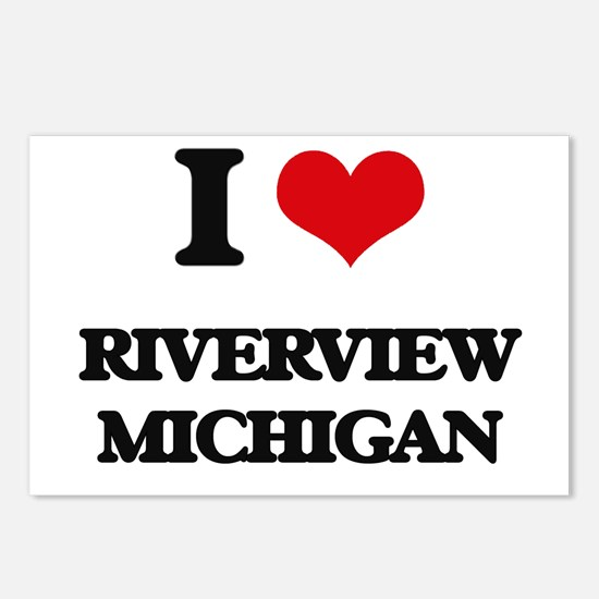 I love Riverview Michigan Postcards (Package of 8)