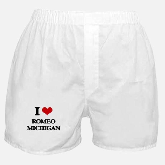 I love Romeo Michigan Boxer Shorts