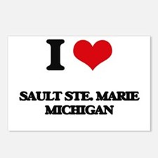 I love Sault Ste. Marie M Postcards (Package of 8)