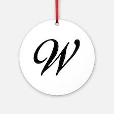 W-Bir black Ornament (Round)