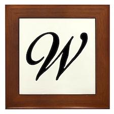 W-Bir black Framed Tile