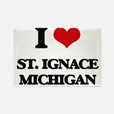 I love St. Ignace Michigan Magnets