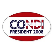 CONDI PRESIDENT 2008 Oval Decal