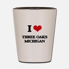 I love Three Oaks Michigan Shot Glass