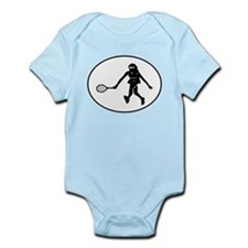 Tennis Player Silhouette Oval Body Suit