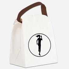 Runner Silhouette Oval Canvas Lunch Bag