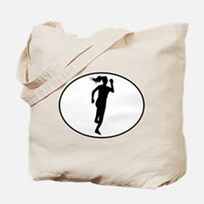 Runner Silhouette Oval Tote Bag
