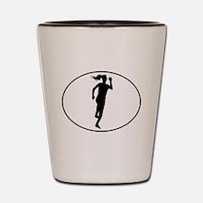Runner Silhouette Oval Shot Glass