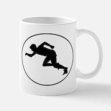 Runner Silhouette Oval Mugs