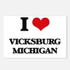 I love Vicksburg Michigan Postcards (Package of 8)