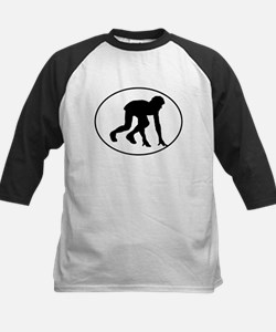 Runner Crouched Oval Baseball Jersey