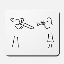 trombone trumpet player brass player Mousepad