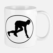 Runner Crouched Oval Mugs