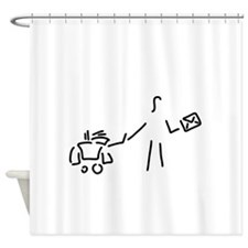 postwoman's post Shower Curtain