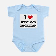 I love Wayland Michigan Body Suit