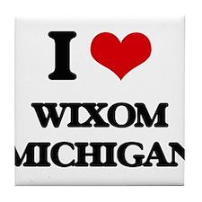 I love Wixom Michigan Tile Coaster