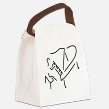 piano playing Canvas Lunch Bag